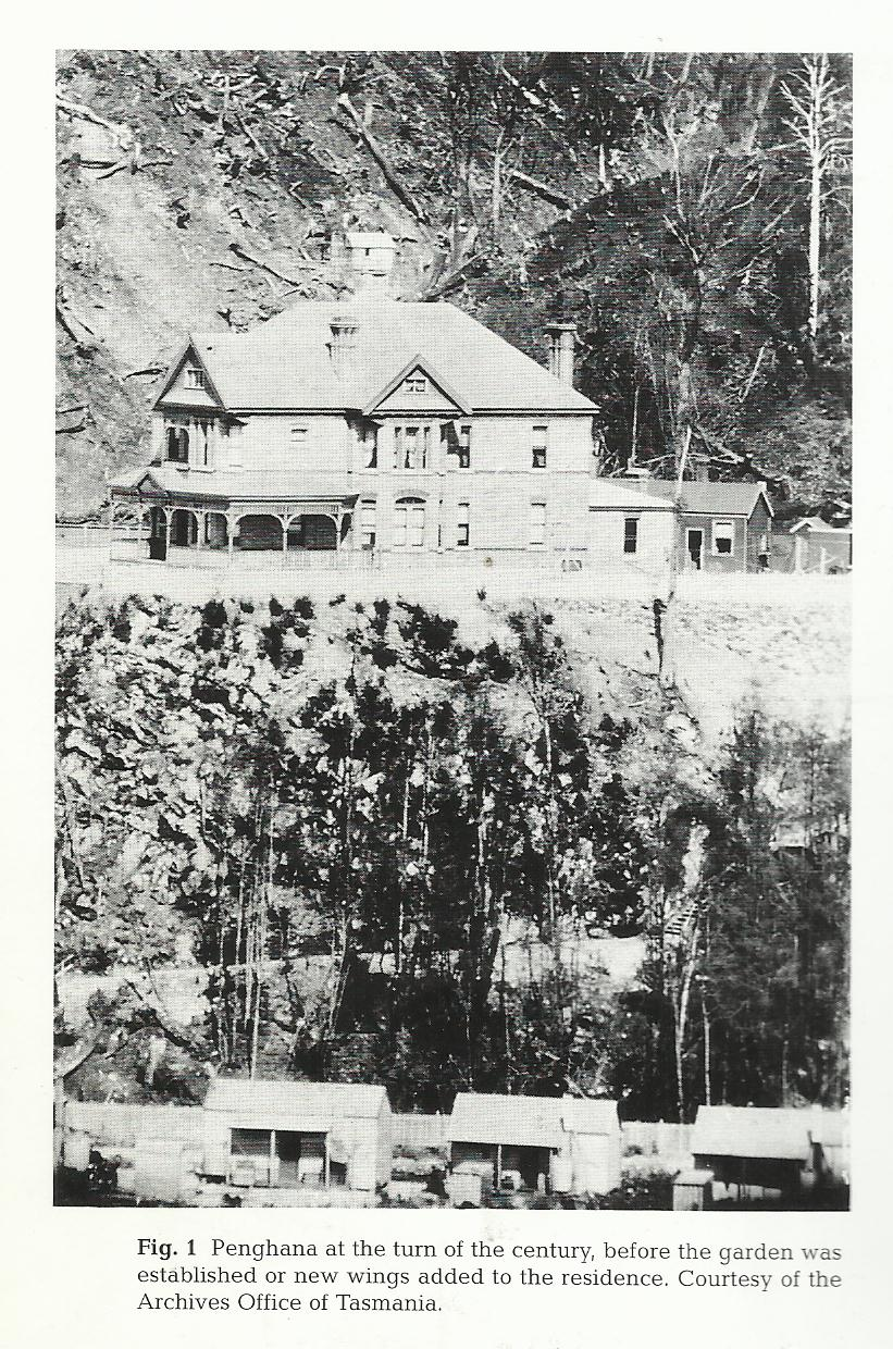 Penghana circa 1900, photograph from the Tasmanian Archives and Heritage Office