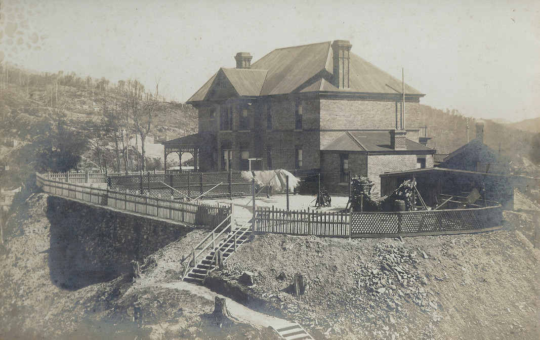 An early photograph of Penghana, from the rear of the property