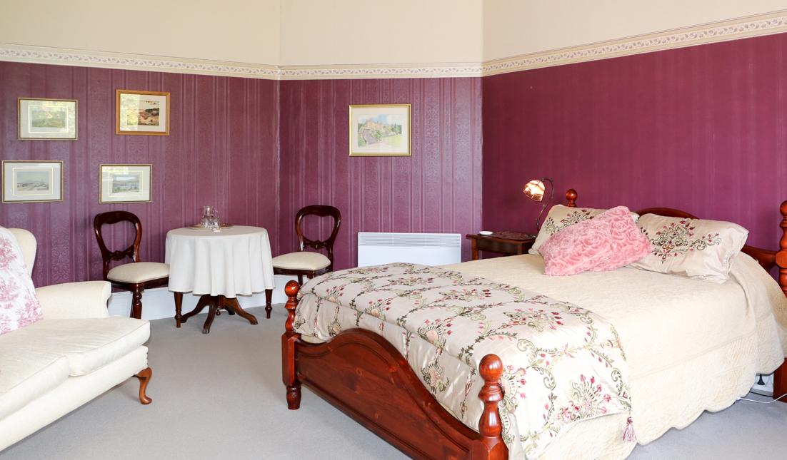 Burgundy Bay Window Suite