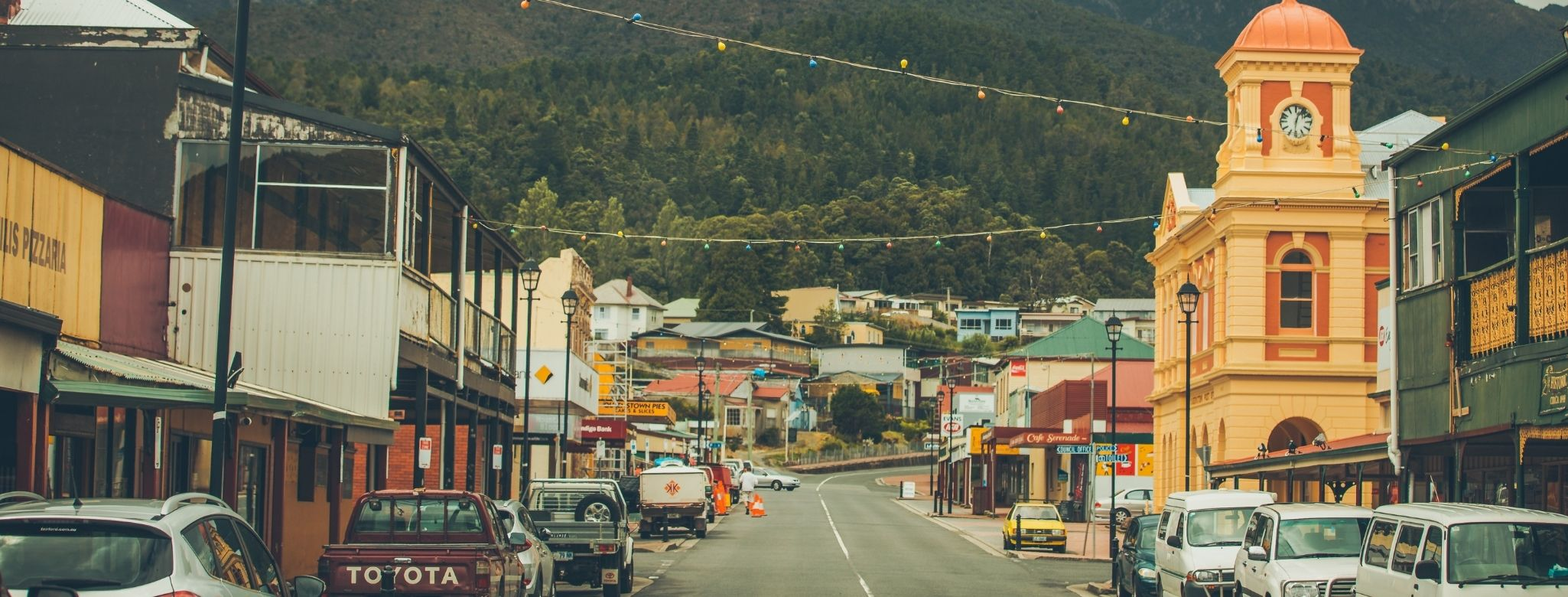 Orr Street Is The Centre Of Queenstown, An Historic Mining Town In Tasmania's Western Wilderness Area