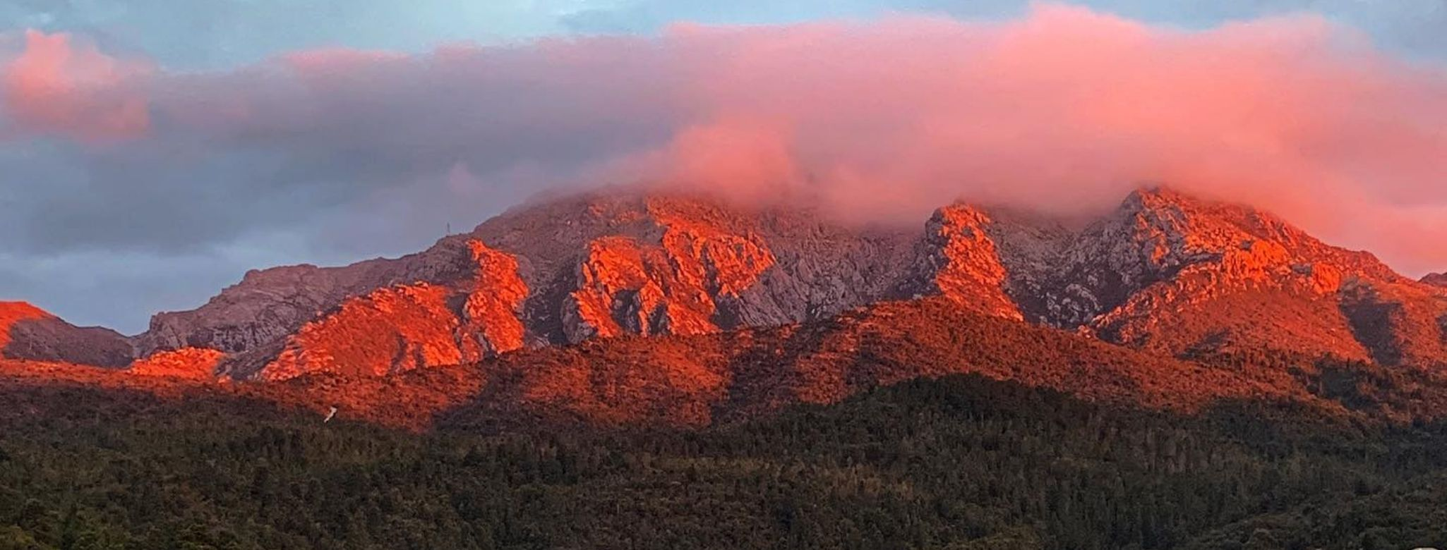 Penghana Boasts Uninterrupted Views Of Mount Owen, Which Sits Over Queenstown In Tasmania's Western Wilderness